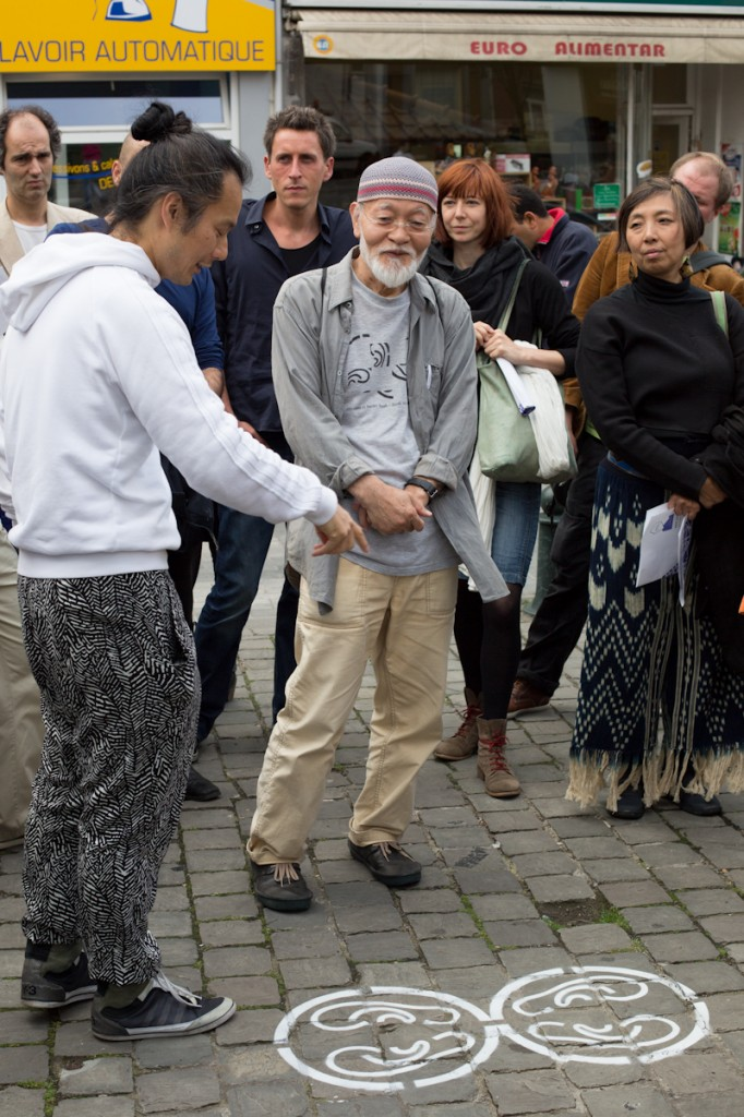 Akio Suzuki's oto-date listening walk, with Aki Onda, Tuned City, Brussels, 2013