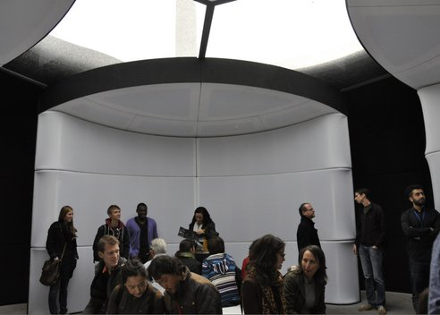 The interior of the BE OPEN sound portal. Photo by Bonnie Alter