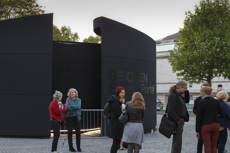 Outside the BE OPEN Sound Portal